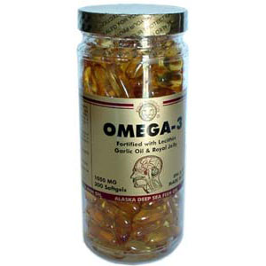 Omega 3 Fish Oil (200) - w/Lecithin, Garlic Oil, Royal Jelly
