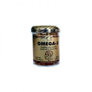 Omega 3 Fish Oil (100) - w/Lecithin, Garlic Oil, Royal Jelly